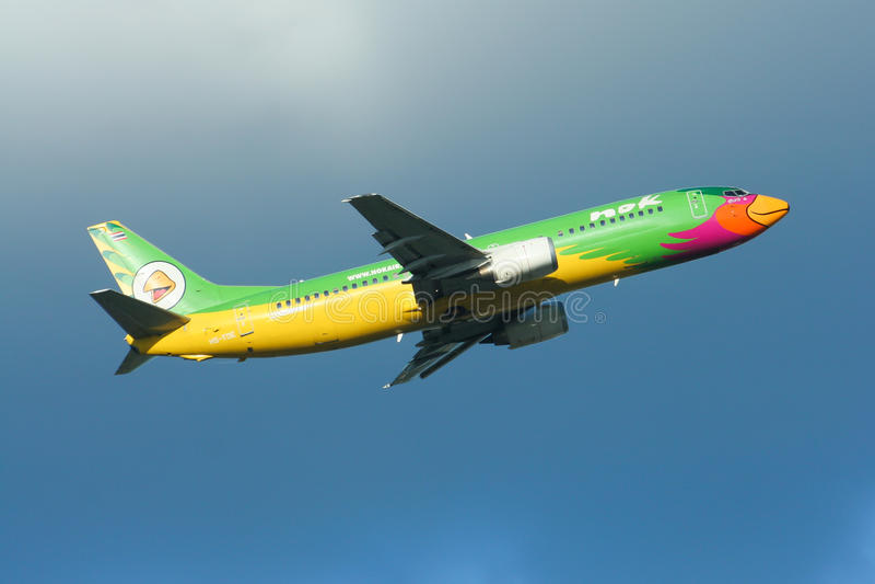 HS-TDE Boeing 737-400 NokAir linia lotnicza zdjęcia royalty free