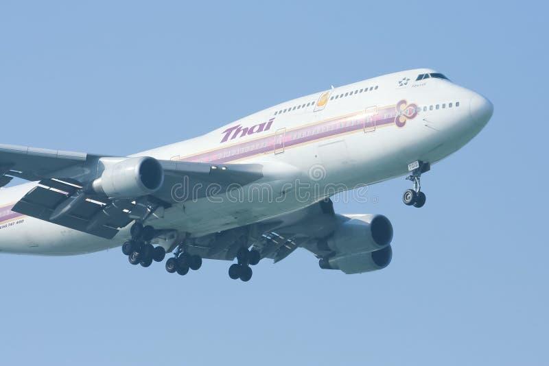 Hs-TGG Boeing 747-400 van Thaiairway royalty-vrije stock foto