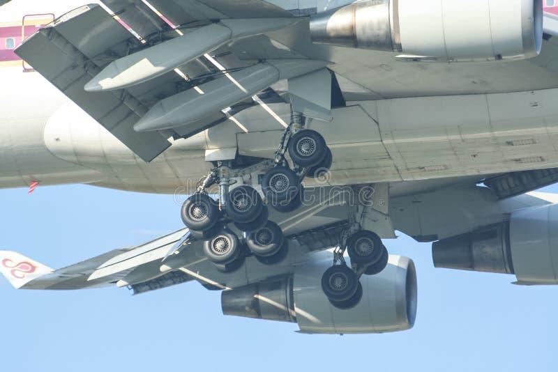 Hs-TGM Boeing 747-400 van Thaiairway stock foto