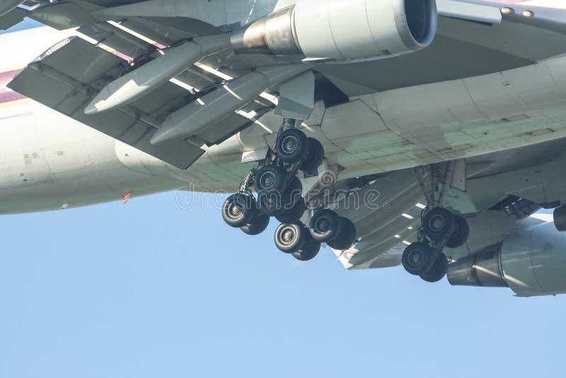 Hs-TGM Boeing 747-400 van Thaiairway stock afbeeldingen