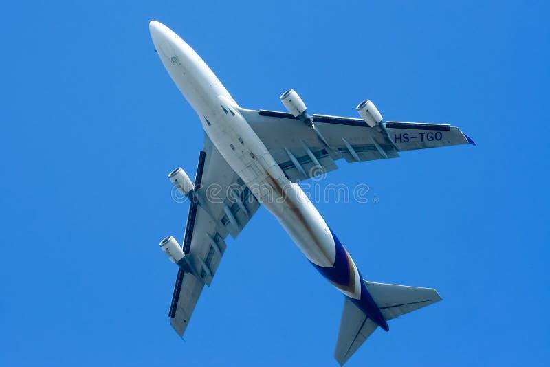 Hs-TGO Boeing 747-400 van Thaiairway royalty-vrije stock foto's