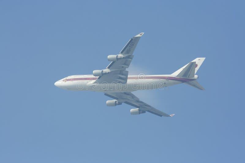 Hs-TGT Boeing 747-400 van Thaiairway royalty-vrije stock foto's