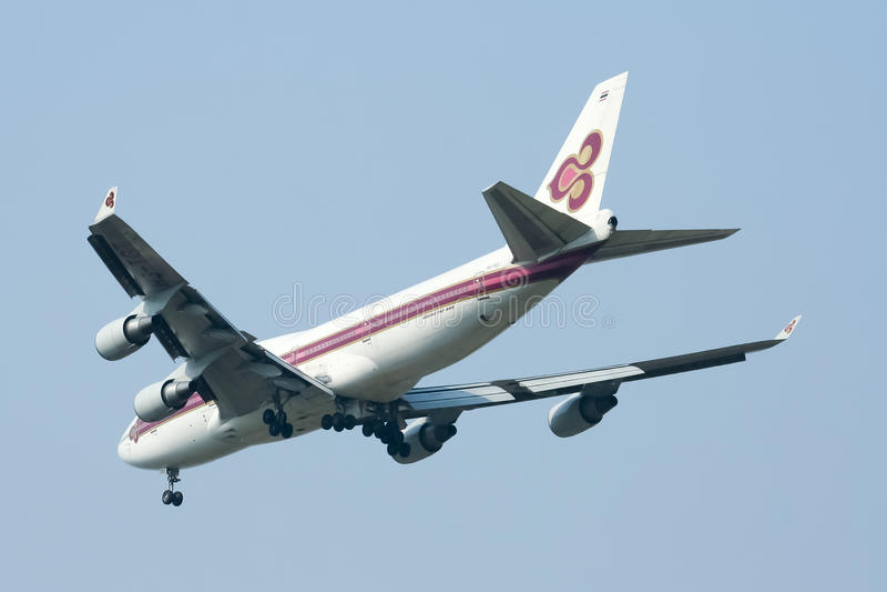 Hs-TGT Boeing 747-400 van Thaiairway stock fotografie