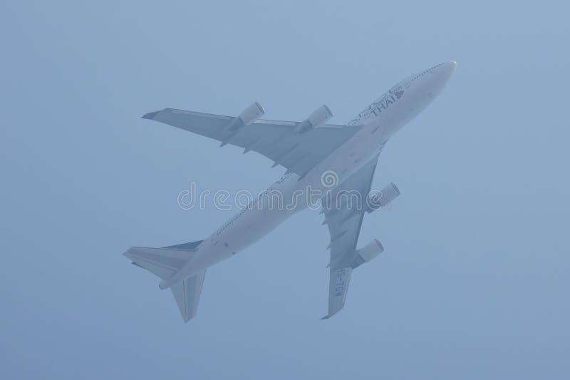 Hs-TGW Boeing 747-400 van Thaiairway stock foto's