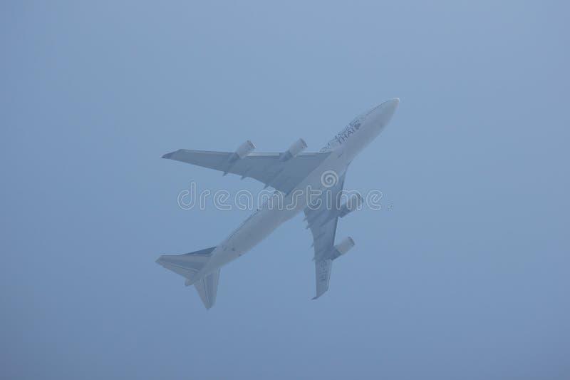 Hs-TGW Boeing 747-400 van Thaiairway royalty-vrije stock fotografie