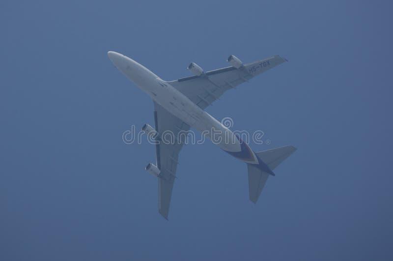 Hs-TGX Boeing 747-400 van Thaiairway royalty-vrije stock foto