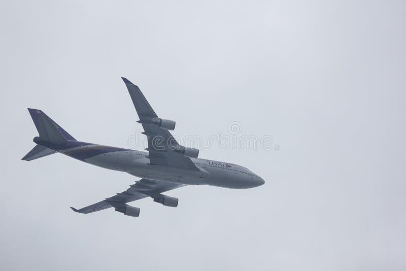 HS-TGX Boeing 747-400 von Thaiairway stockfotografie
