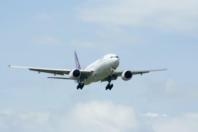Hs-TJF van Boeing 777-200 Thaiairway royalty-vrije stock foto's