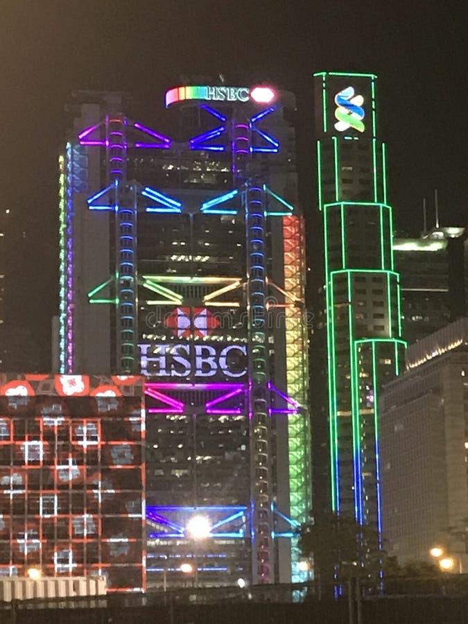 HSBC и штабы Standard Chartered стоковое изображение rf