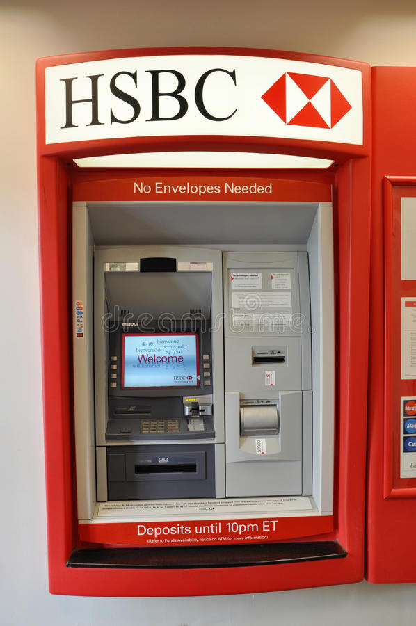 Download HSBC ATM machine editorial image. Image of electronic - 24177795