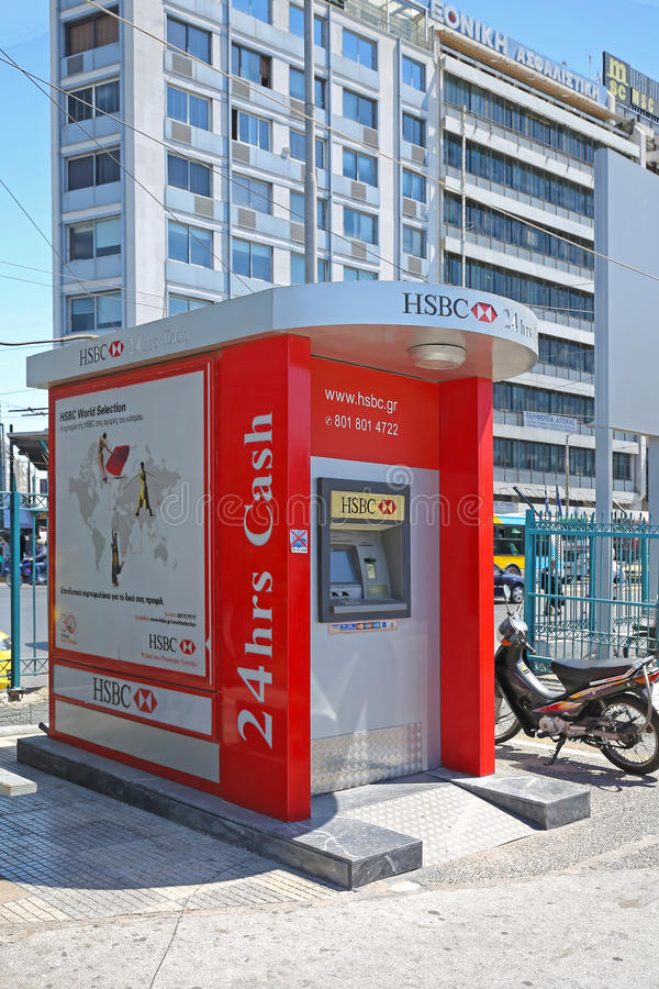 Hsbc Atm royalty free stock images