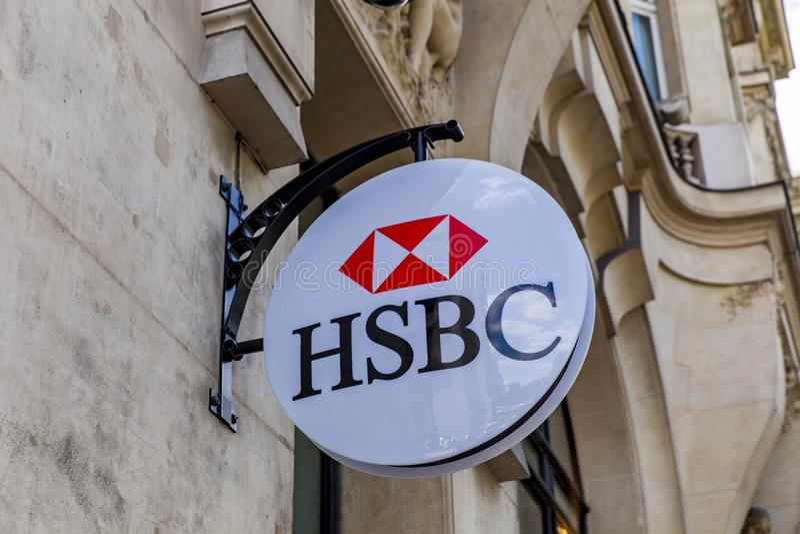HSBC bank fotografia stock