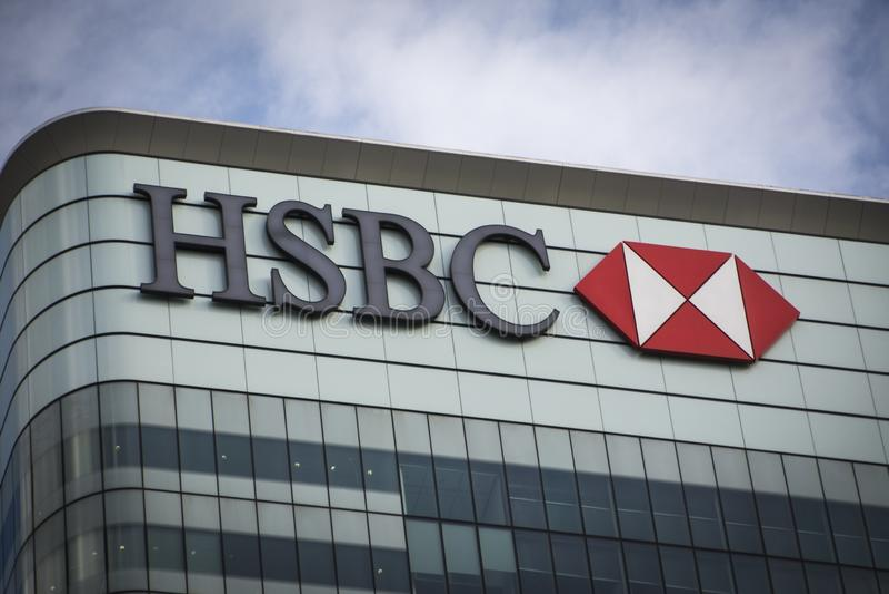 HSBC budynek, Canary Wharf fotografia stock