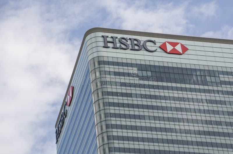 HSBC budynek, Canary Wharf obraz royalty free
