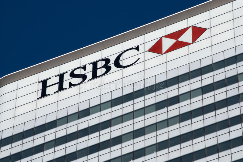 HSBC London lizenzfreies stockfoto