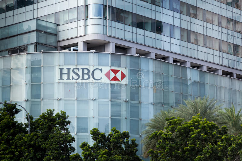 HSBC Office Building In Singapore Editorial Stock Photo