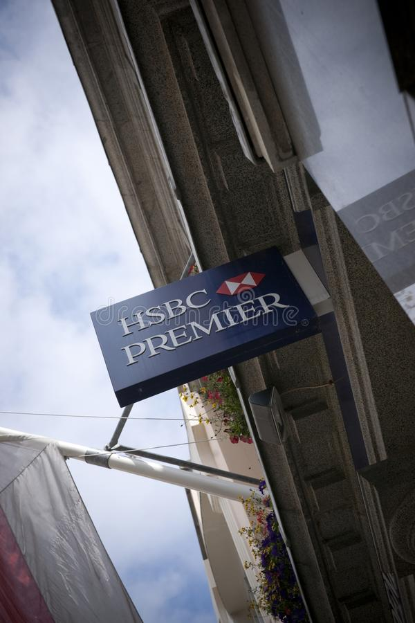 HSBC Bank - Small Town Bank - England - UK Editorial Photo - Image