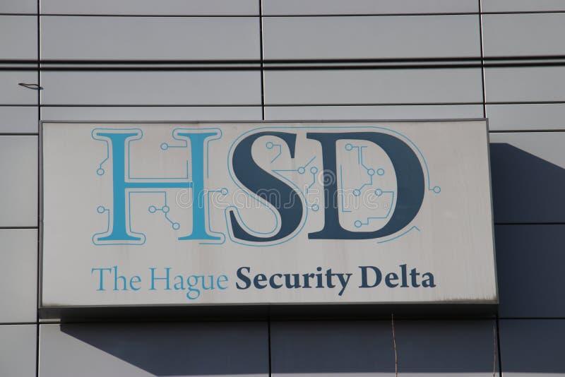 HSD-bedrijf op de Beatrixpark-kantoren bij post Laan van Noi in Den Haag The Hague royalty-vrije stock foto's