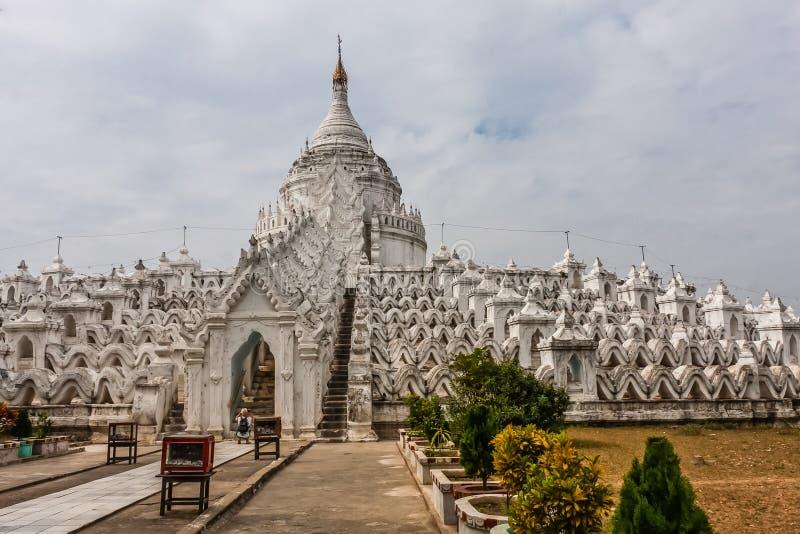 Hsinbyume塔,Mingun,缅甸 免版税库存照片