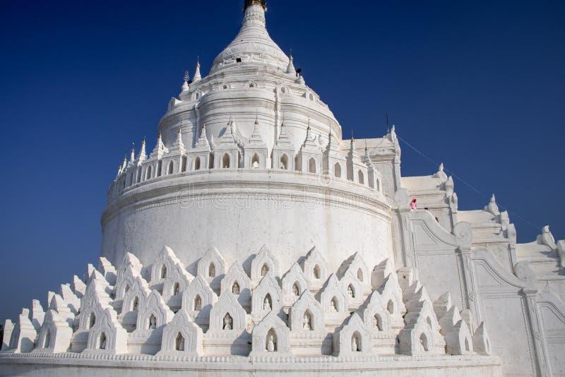 Hsinbyume Pagoda or Mya Theindan pagoda, Mingun, Myanmar. Hsinbyume Pagoda or Mya Theindan pagoda built as a  recreation of the mythical Sulamani pagoda on the stock image