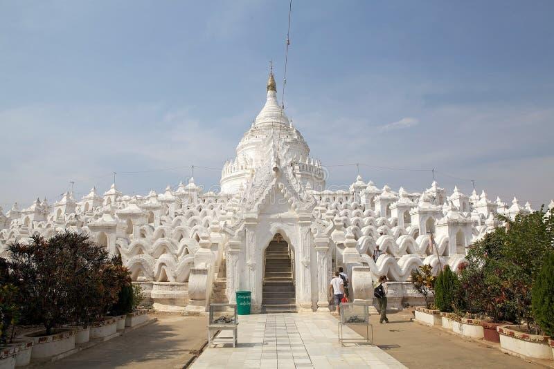 Hsinbyume Pagoda or Myatheindan Pagoda Myanmar stock photo