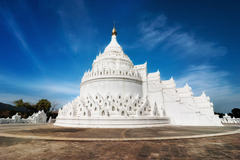 Hsinbyume pagoda przy Mingun Mandalay, Myanmar (Birma) fotografia royalty free