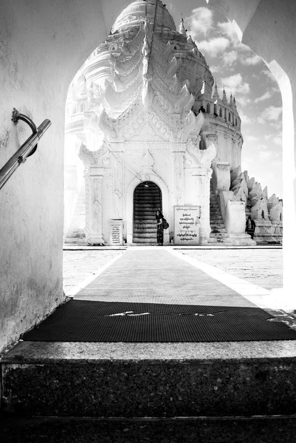 Hsinbyume Pagodowy Mingun Myanmar obraz royalty free