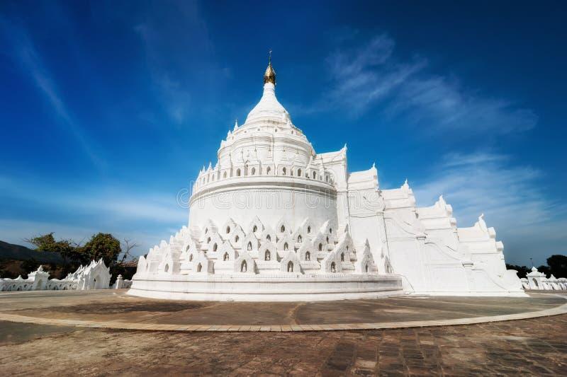 Hsinbyumepagode in Mingun Mandalay, Myanmar (Birma) royalty-vrije stock fotografie