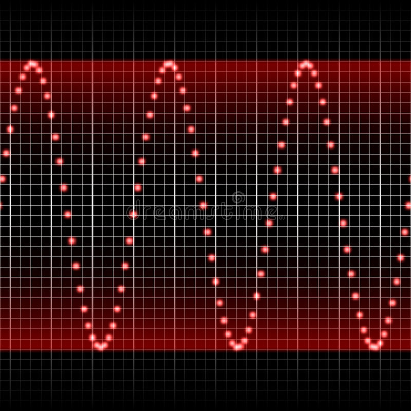 Hsl Red Sound Wave Royalty Free Stock Image