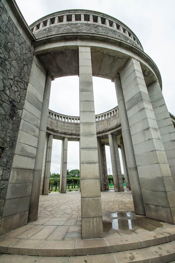 Htauk Kyant Wojennego pomnika cmentarz w Yangon, Myanmar obraz stock
