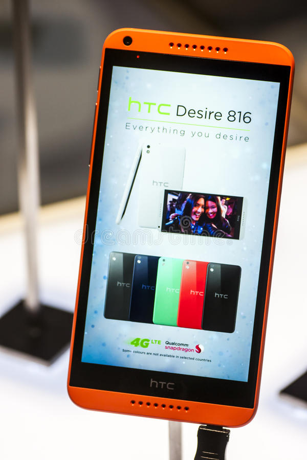 HTC DESIRE 816, MOBILE WORLD CONGRESS 2014 Editorial Image