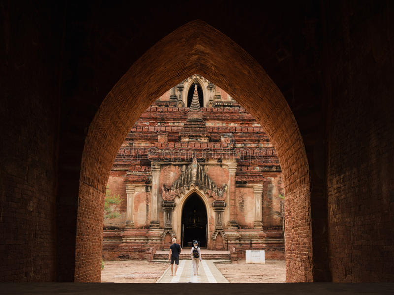 Htilominlo świątynia w Bagan, Myanmar zdjęcie royalty free