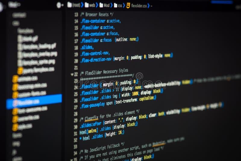 HTML和CSS代码 免版税库存图片