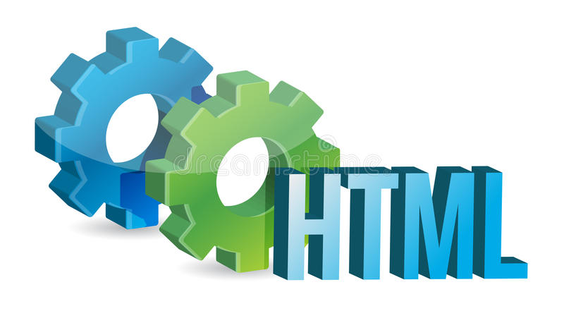 HTML工业齿轮概念 皇族释放例证