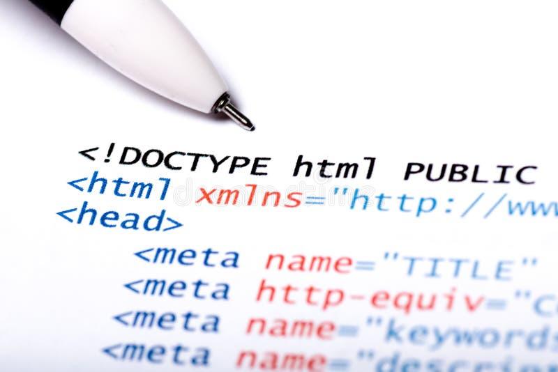 HTML κώδικα στοκ εικόνες