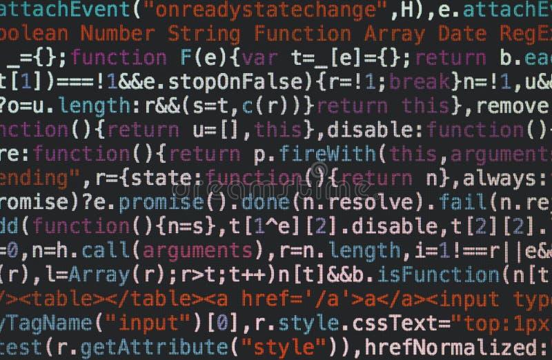 Κώδικας HTML στοκ φωτογραφίες