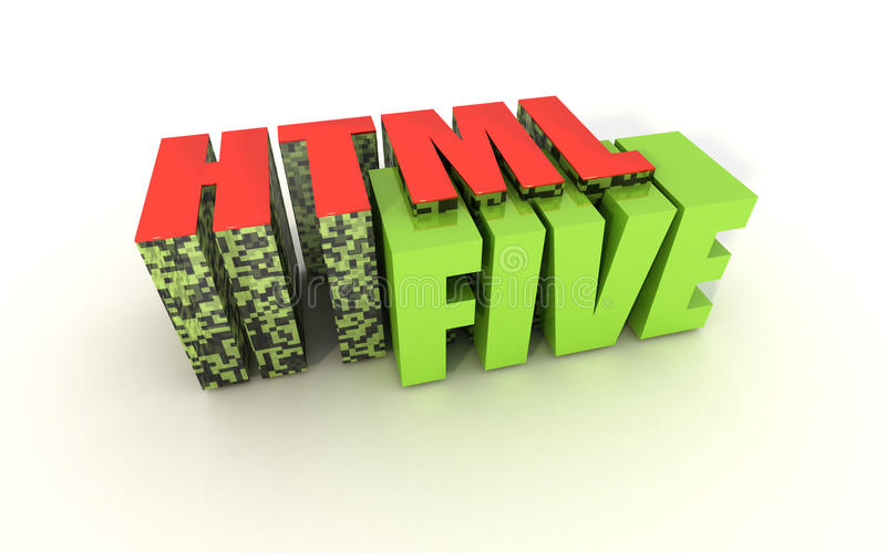 HTML 5. HTML5 Format with QR Code stock illustration