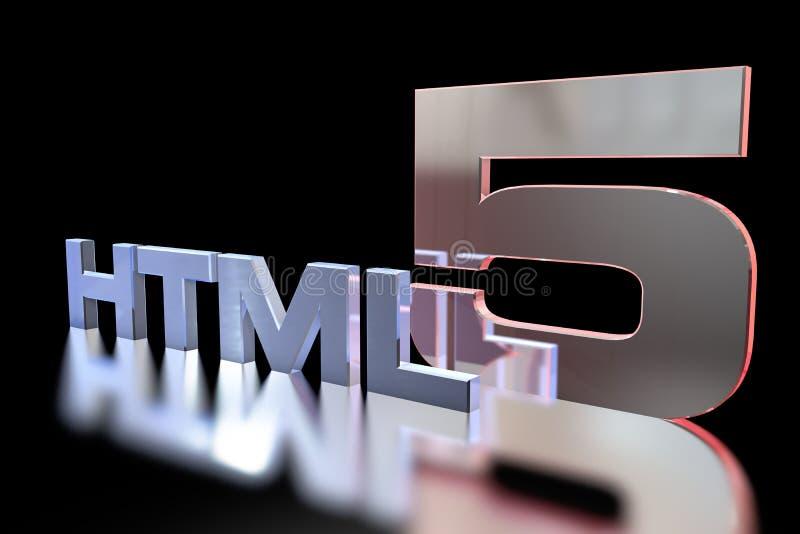 HTML 5 royalty illustrazione gratis