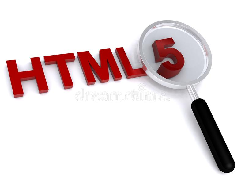 HTML 5. A concept illustration of the HTML 5 specification royalty free stock photos