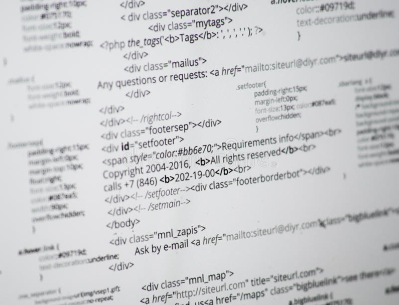 HTML στοκ εικόνα με δικαίωμα ελεύθερης χρήσης