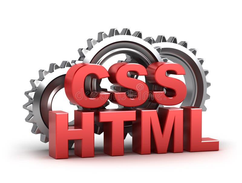 HTML, codage de CSS illustration libre de droits
