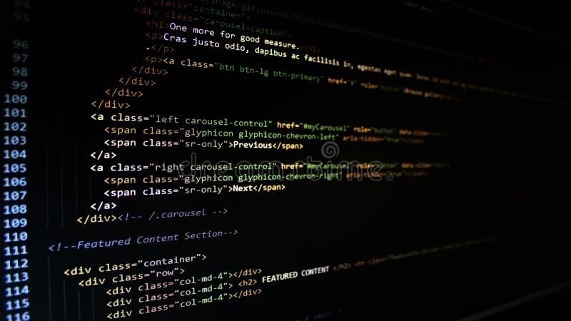 HTML-Code lizenzfreie stockbilder