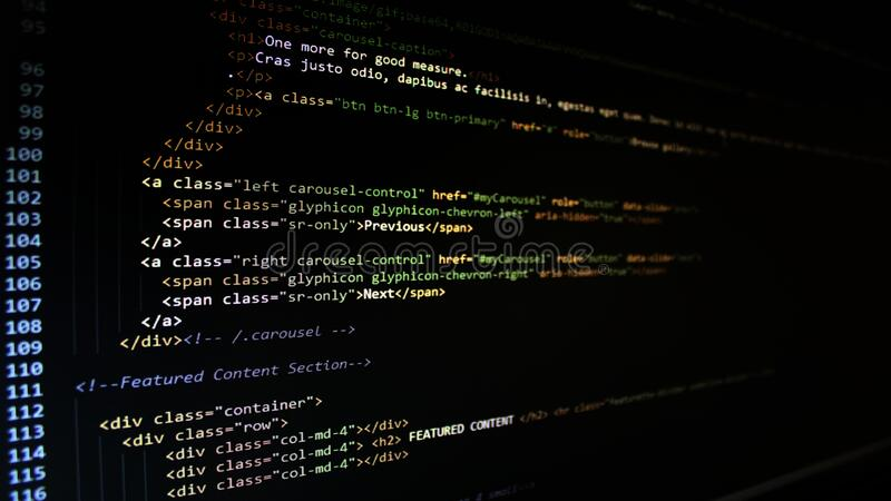HTML code royalty free stock images