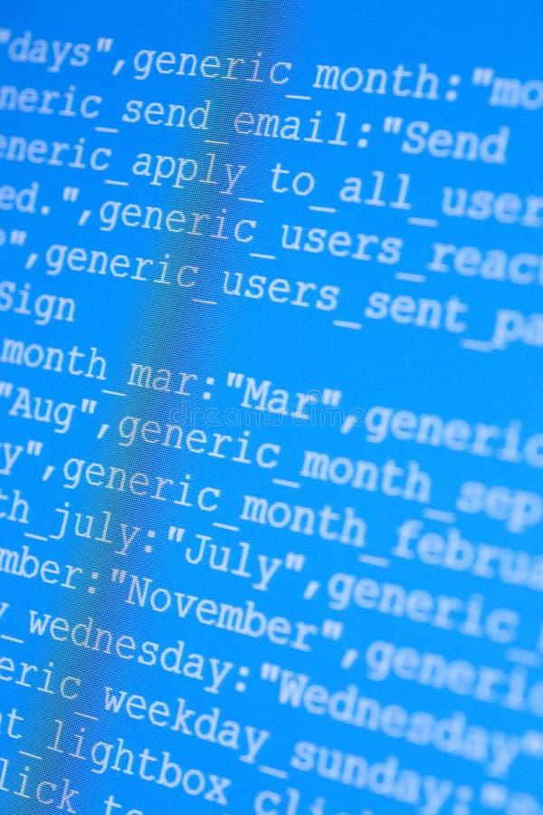 HTML-Codes lizenzfreie stockfotos