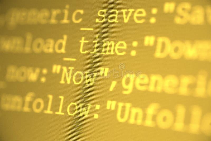 HTML-Codes lizenzfreies stockbild