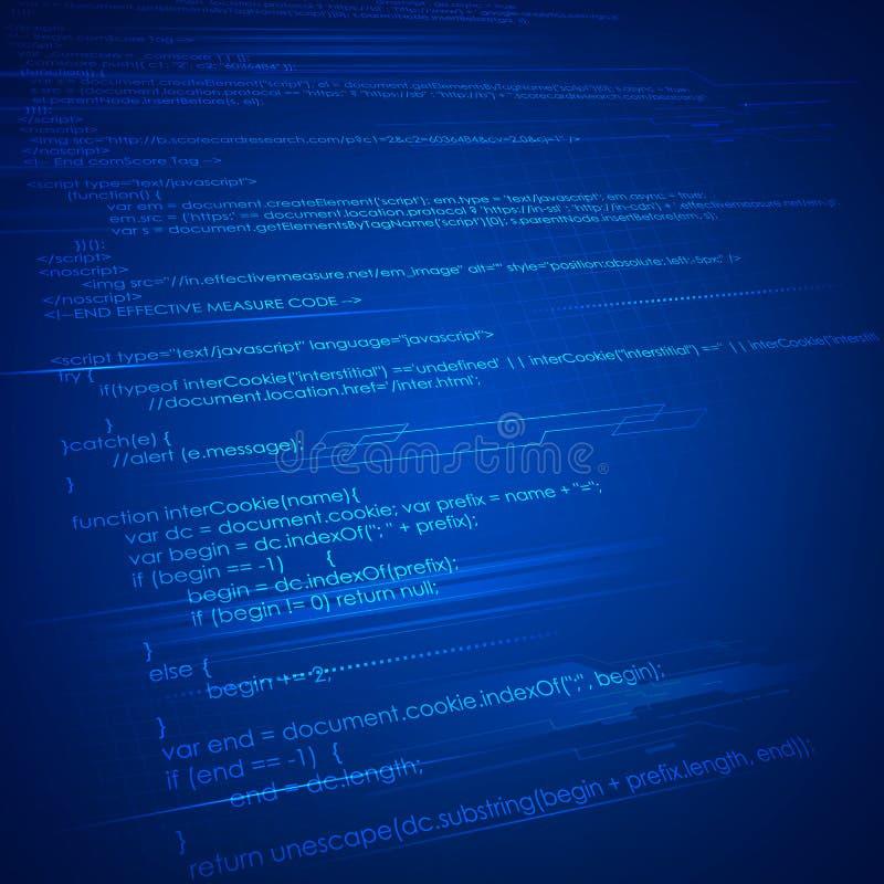 HTML Coding Background stock vector Image of data javascript