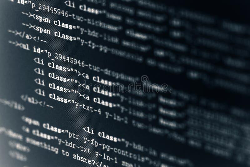 HTML del código de ordenador imágenes de archivo libres de regalías