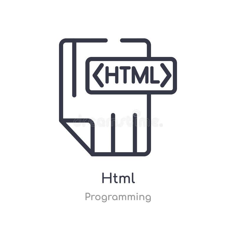 html konturu ikona odosobniona kreskowa wektorowa ilustracja od programowanie kolekcji editable cienieje uderzenia html ikonę na  royalty ilustracja