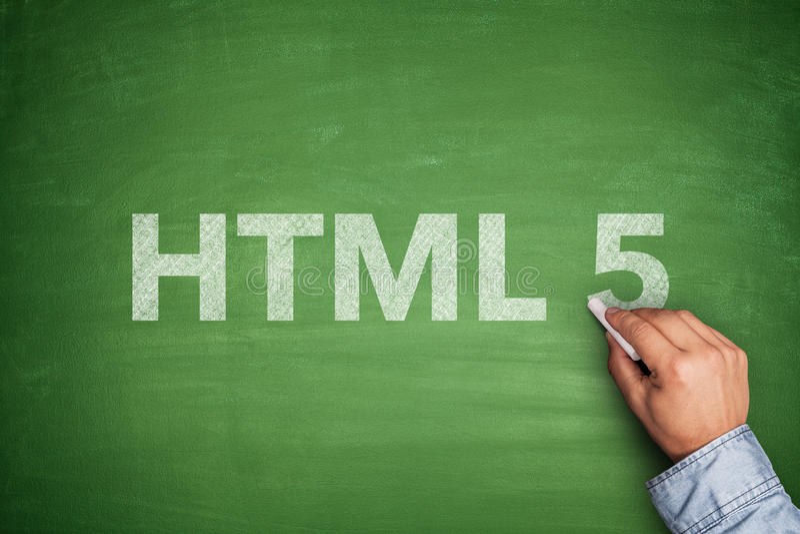 HTML 5 no quadro-negro foto de stock royalty free