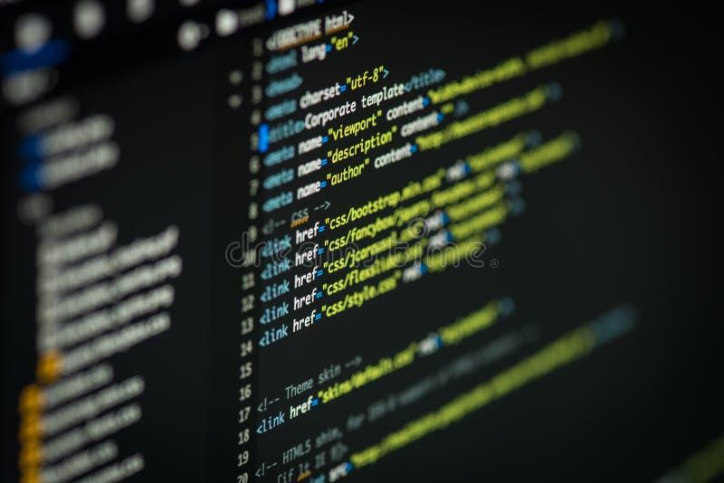 Html- och CSS-kod arkivfoton